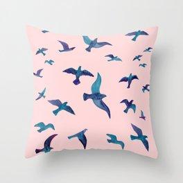 Birds II Throw Pillow