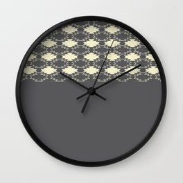 Gray Native Pattern Wall Clock