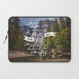 Psalm 91 with Background Laptop Sleeve