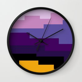 Summer 2016 In Purple Wall Clock