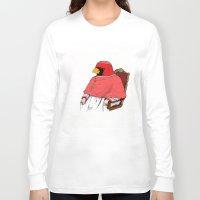 cardinal Long Sleeve T-shirts featuring Cardinal by Jacob Waites