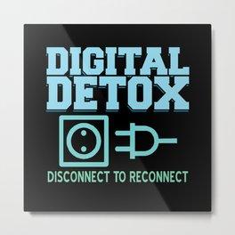 Digital Detox Offline Meditation Focus Karma Metal Print