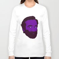 robin williams Long Sleeve T-shirts featuring Robin Williams by Cédric Day-Myer