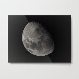 Quarter Moon Metal Print