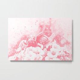 two snails make love wspw Metal Print
