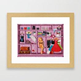 My clothing Framed Art Print