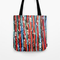 alcohol Tote Bags featuring Alcohol Ink stripe Alpha by Pajaritaflora