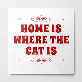 At My Cat At Home Metal Print