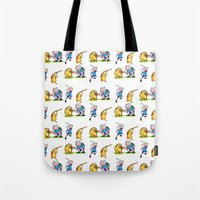 finn and jake Tote Bags featuring  Finn&Jake  by memo_alatouly