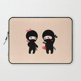 Tiny Ninja Boy and Girl Laptop Sleeve