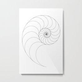 Nautilus Spiral Metal Print