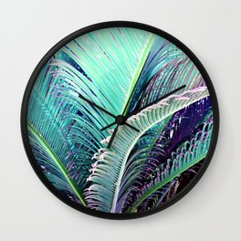 Palms (Teal and purple) Wall Clock