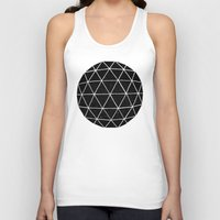 geometric Tank Tops featuring Geodesic by Terry Fan