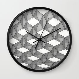 Trapez 5/5 grey pencil sketch by Brian Vegas Wall Clock