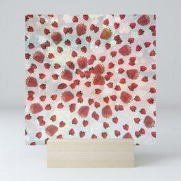 Strawberry Vortex Mini Art Print