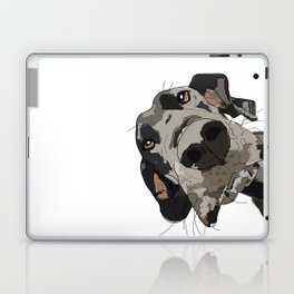 Great Dane dog in your face Laptop & iPad Skin