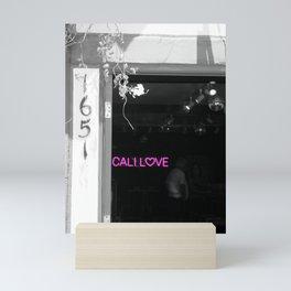 Cali Love Neon Sign in Darkened Bar Hot Pink Selective Coloring Mini Art Print