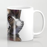 rocket raccoon Mugs featuring Rocket by Fhari