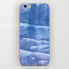 Steel blue clouded wash drawing paper iPhone Skin