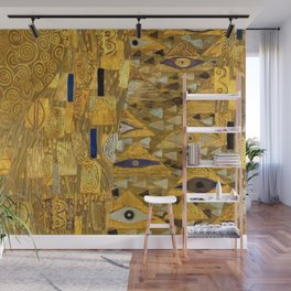 All the World is Gold symbolist portrait painting by Gustav Klimt Wall Mural