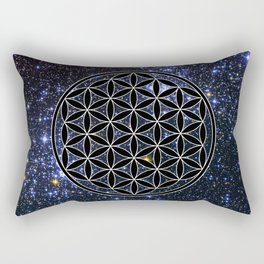 Flower of life in the space Rectangular Pillow