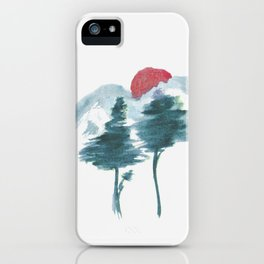 Japanese Alpine Sunset iPhone Case