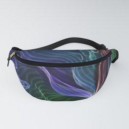 Pleated Rainbow Aurora String Theory Art #5 Fanny Pack