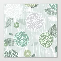 Abstract Floral by Friztin Canvas Print
