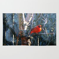 cardinal Area & Throw Rugs featuring Cardinal by IcyBC