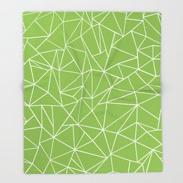 Ab Outline Greeny Throw Blanket