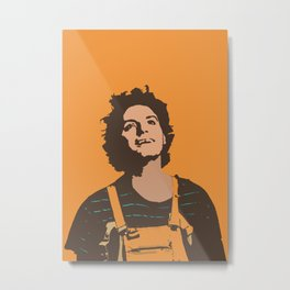 Orange Mac Metal Print