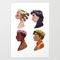 Flower set Art Print