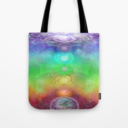 Chakra Activation Geometry Template Tote Bag