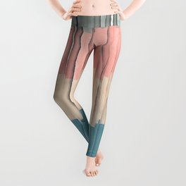 Colorful Grunge Stripes Leggings