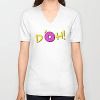 simpsons V-neck T-shirts featuring The Simpsons: D´oh! by dutyfreak