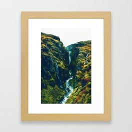 Glymur Falls in Iceland. Framed Art Print