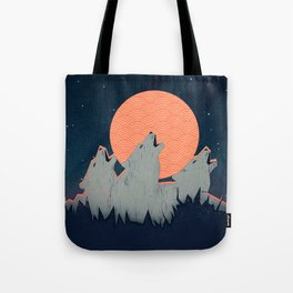 Howling Moon Tote Bag