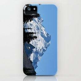 Snow Cap on the Mountain iPhone Case