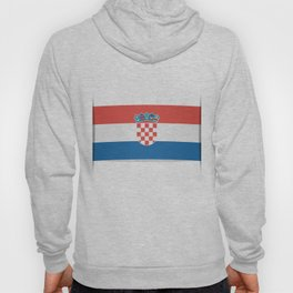 Flag of Croatia.  The slit in the paper with shadows.  Hoody