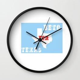 beto for texas shirt Wall Clock