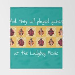 Ladybug Picnic Throw Blanket