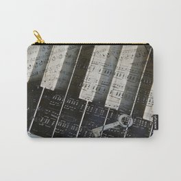 Piano Keys black and white - music notes Carry-All Pouch