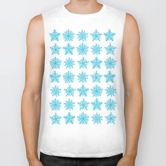 Sky Blue Star Pattern Biker Tank