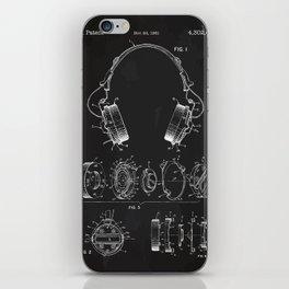 Headphone patent iPhone Skin