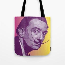 Salvador Dali Low Poly Collection Tote Bag