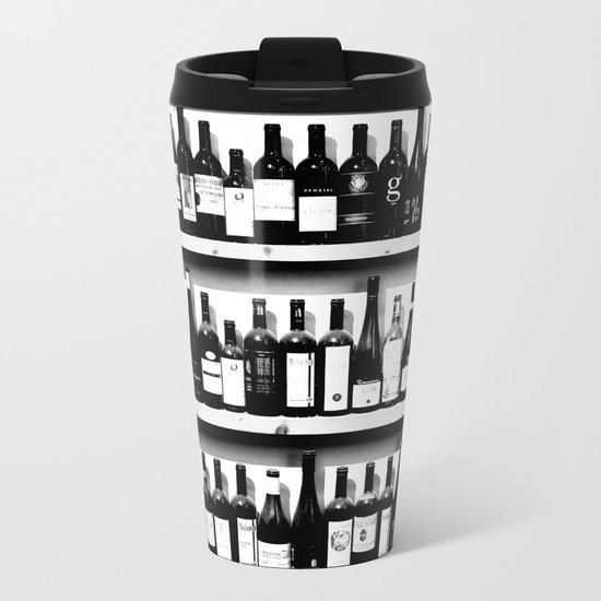 Wine Bottles Metal Travel Mug