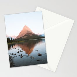 Sunrise at Swiftcurrent Lake Stationery Cards