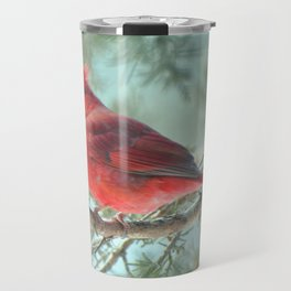 Dreamy Morning (Northern Cardinal) Travel Mug