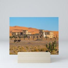At the edge of the desert   Morocco travel photography Mini Art Print