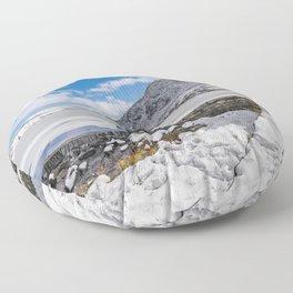 Weir At Ogwen Lake Floor Pillow